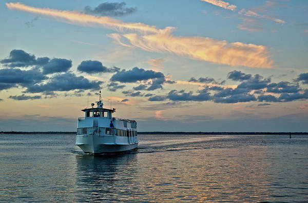 Wall Art - Photograph - Ferry Boat On Great South Bay, Long by Jaylazarin