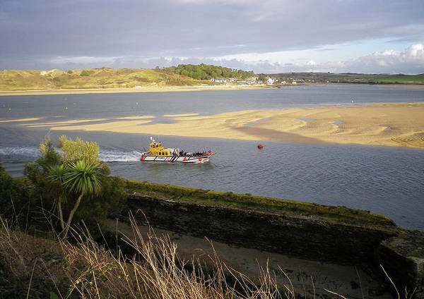 Wall Art - Photograph - Ferry Boat River Camel Padstow Cornwall by Richard Brookes