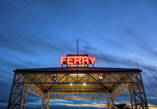 Wall Art - Photograph - Ferry Terminal At Dusk, Jack London by Panoramic Images