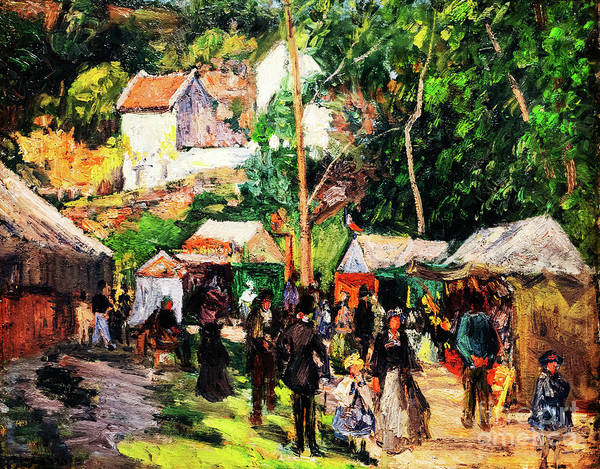 Painting - Festival At L'hermitage by Camille Pissarro