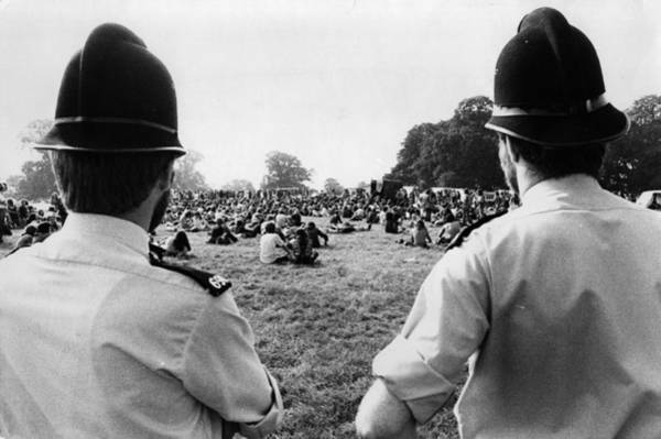 Police Force Photograph - Festival Force by Tim Graham