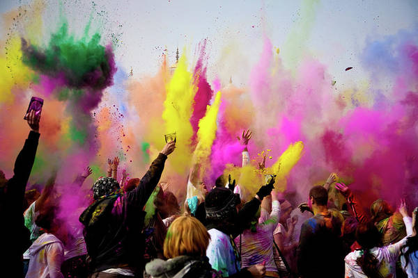 Holi Photograph - Festival Of Colors by Bill Gerrard