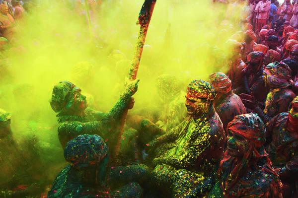 Holi Photograph - Festival Of Colors, Holi, India by Poras Chaudhary