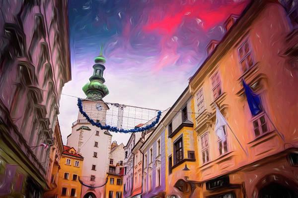 Golden Circle Photograph - Festive Season In Bratislava Slovakia  by Carol Japp