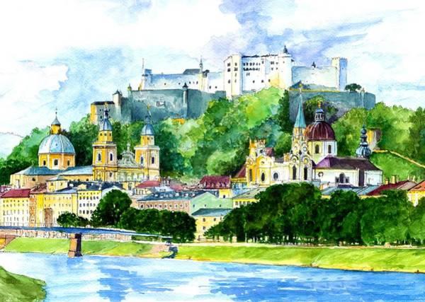 Wall Art - Painting - Festung Hohensalzburg by ArtMarketJapan