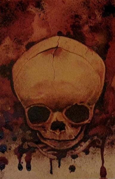 Serial Killer Painting - Fetus Skeleton #2 by Ryan Almighty