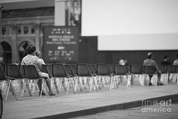 Few People At Open-air Cinema Hall Art Print