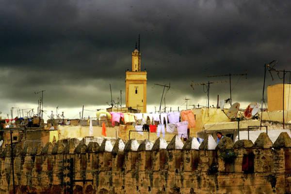 Clothesline Photograph - Fez El Bali by Lola L. Falantes