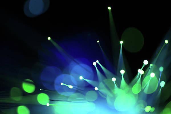 Fiber Photograph - Fiber Optics Close-up by Pictafolio