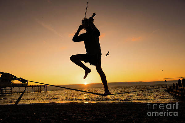 Photograph - Fiddle Playing At Sunset In Aberystwyth by Keith Morris