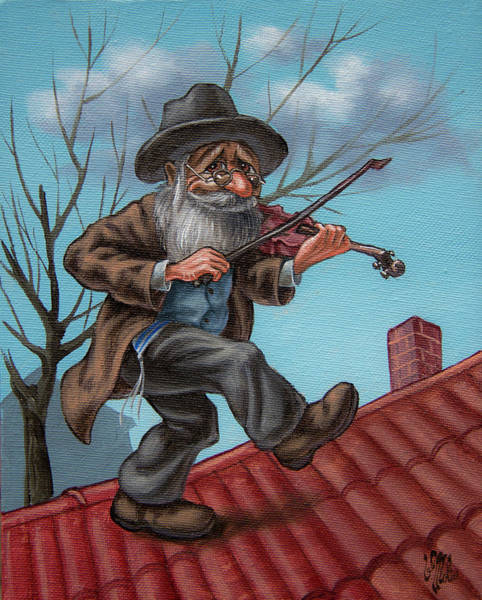 Painting - Fiddler On The Roof. Op.#2853 by Victor Molev