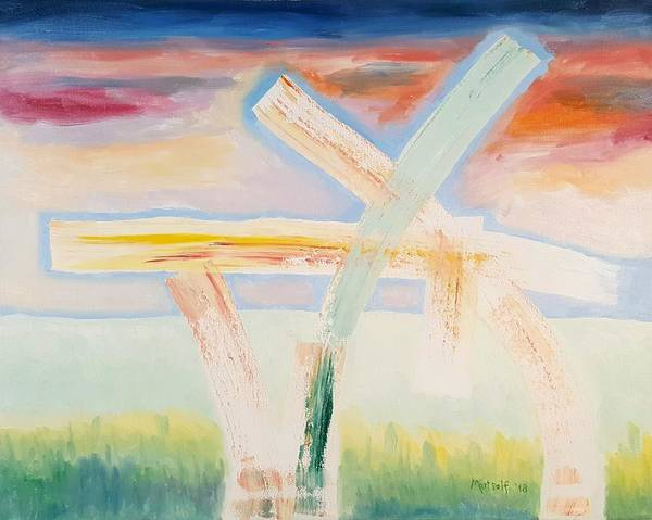 Painting - Field Of Architecture by Dave Martsolf