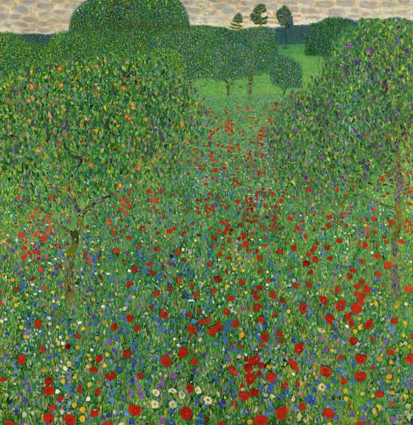 Wall Art - Painting - Field Of Poppies, 1907 by Gustav Klimt