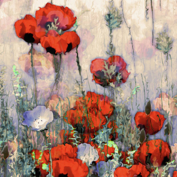 Wall Art - Painting - Field Of Poppies by Natalie Holland