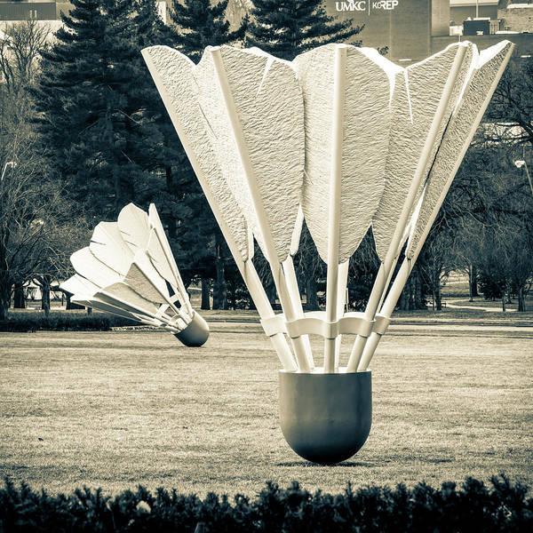 Photograph - Field Of Shuttlecocks - Kansas City Museum by Gregory Ballos