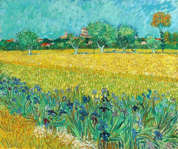 Wall Art - Painting - Field With Irises Near Arles - Digital Remastered Edition by Vincent van Gogh