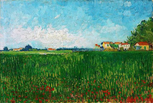 Wall Art - Painting - Field With Poppies - Digital Remastered Edition by Vincent van Gogh