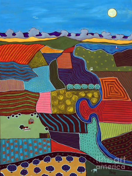Farm Landscape Mixed Media - Fields by David Hinds