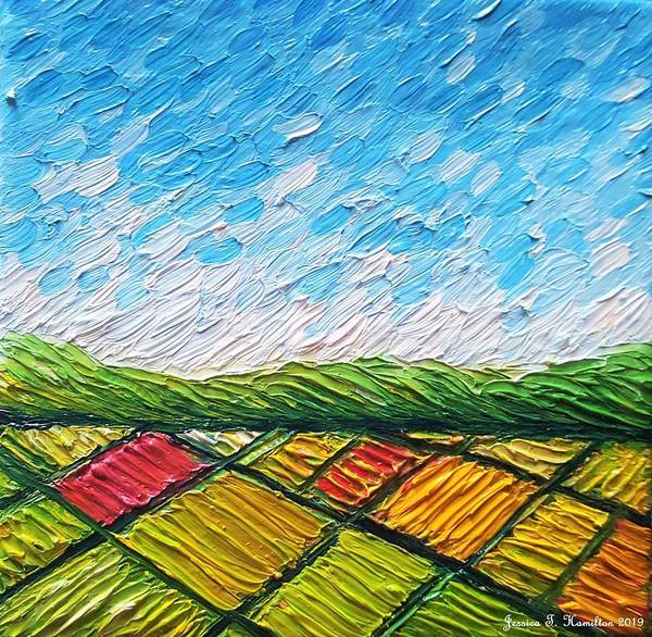 Wall Art - Painting - Fields From Above by Jessica T Hamilton
