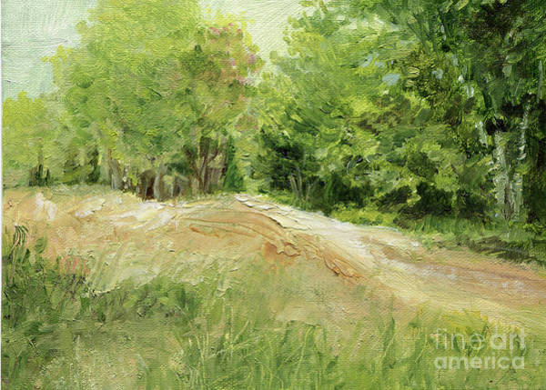 Painting - Woodland Trees And Dirt Road by Laurie Rohner