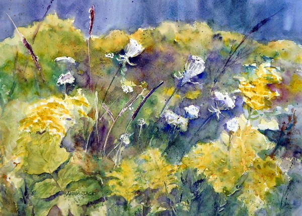Painting - Fields Of White And Gold by Anna Jacke