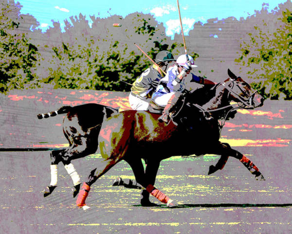 Wall Art - Photograph - Fierce Polo Players Ride Off by Gaby Ethington