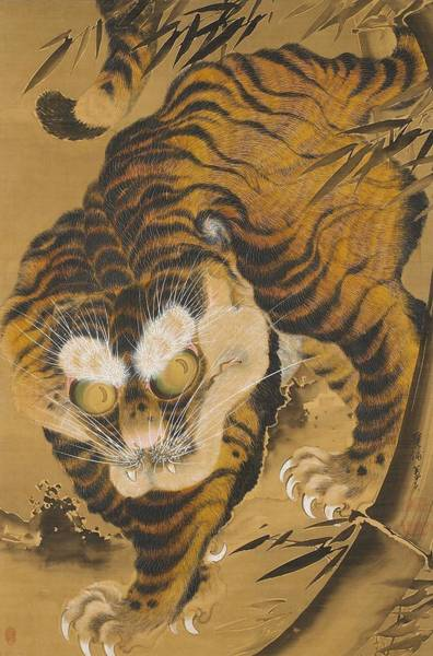 Wall Art - Painting - Fierce Tiger by Katayama Yokoku