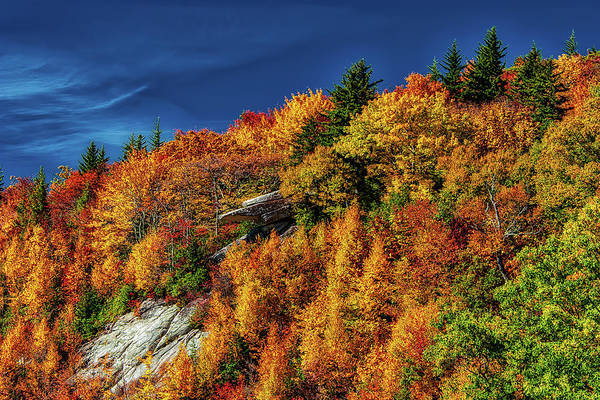 Wall Art - Photograph - Fiery Autumn Colors On The Blue Ridge Parkway by Dan Carmichael