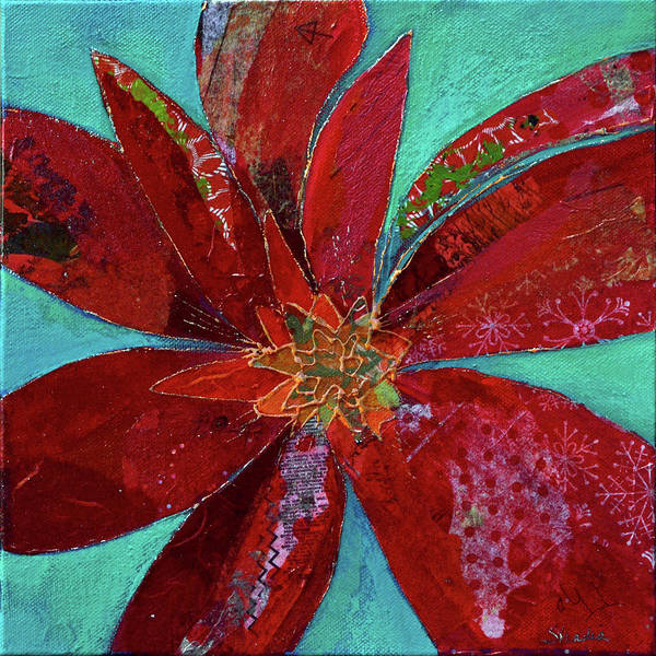 Wall Art - Painting - Fiery Bromeliad I by Shadia Derbyshire