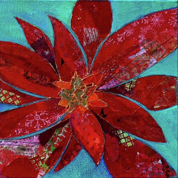 Wall Art - Painting - Fiery Bromeliad II by Shadia Derbyshire