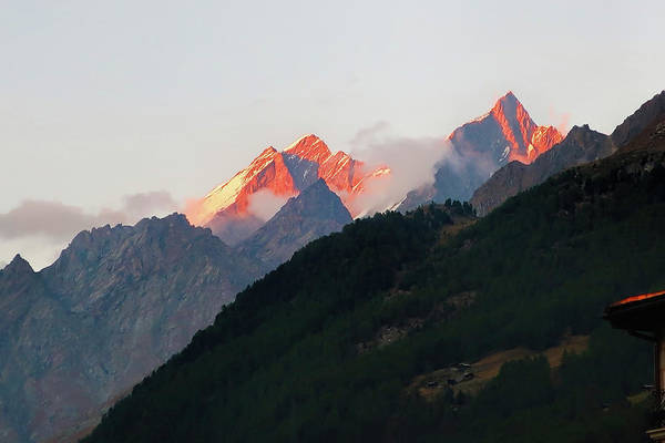 Wall Art - Photograph - Fiery Mountain Peaks by Phyllis Taylor