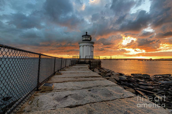 Photograph - Fiery Skies At Bug Light by Jesse MacDonald