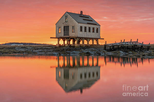 Photograph - Fiery Skies At Cape Porpoise by Jesse MacDonald
