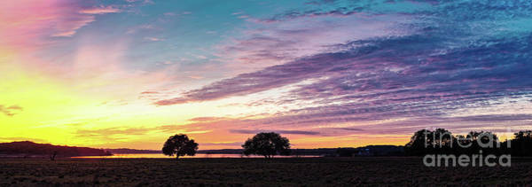 Photograph - Fiery Sunset Over Canyon Lake - Comal County - Central Texas Hill Country by Silvio Ligutti