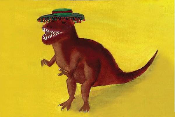 Painting - Fies-t-rex by Misty Morehead