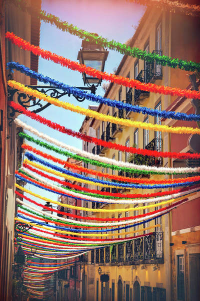Wall Art - Photograph - Fiesta Season Bairro Alto Lisbon Portugal by Carol Japp