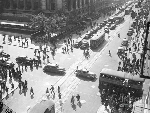 Photograph - Fifth Ave. And E. 42nd St., With Tne by New York Daily News Archive