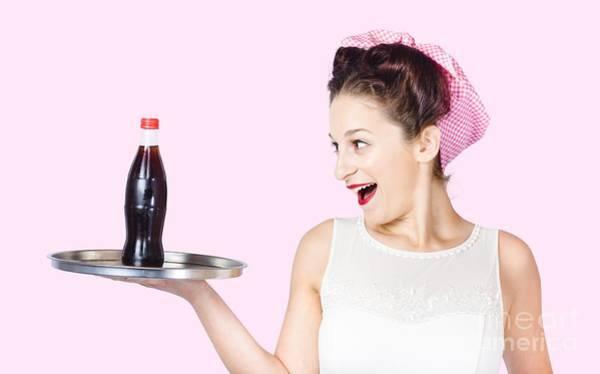 Waitress Wall Art - Photograph - Fifties Style Female Waiter Serving Up Soda by Jorgo Photography - Wall Art Gallery