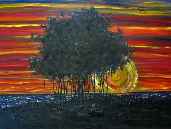 Painting - Fig At Sunset by Joan Stratton