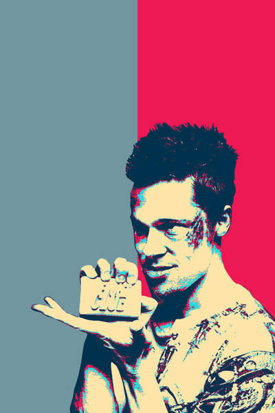 Brad Pitt Digital Art - Fight Club Revisited - Tyler Durden  by Serge Averbukh