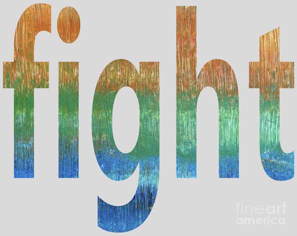Digital Art - Fight by Corinne Carroll