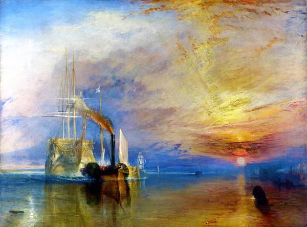 Wall Art - Painting - Fighting Temeraire - Digital Remastered Edition by William Turner