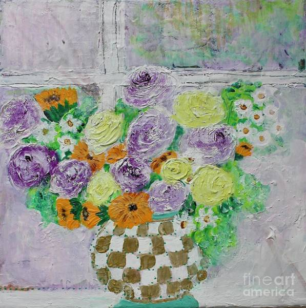 Painting - Figs And Twigs Bouquet by Kim Nelson