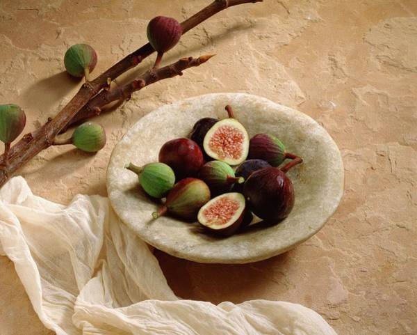 Healthy Eating Photograph - Figs In Bowl by Jupiterimages