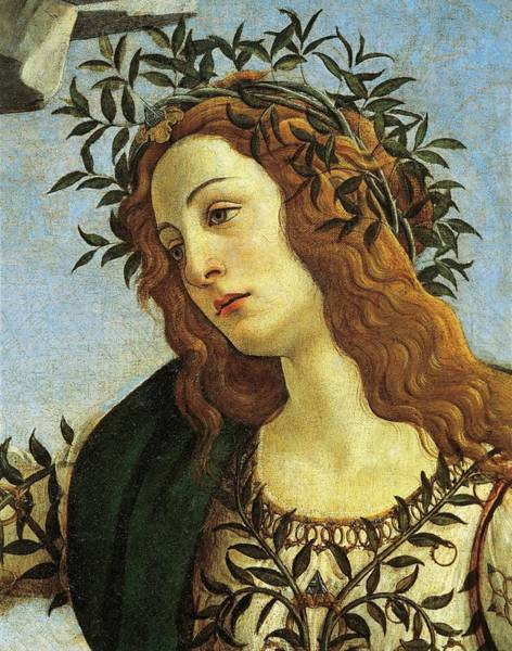 Wall Art - Painting - Figure Of Minerva, Detail From Pallas Taming Centaur, Circa 1482, By Sandro Botticelli by Sandro Botticelli