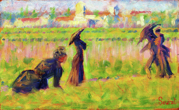 Wall Art - Painting - Figures In A Landscape - Digital Remastered Edition by Georges Seurat