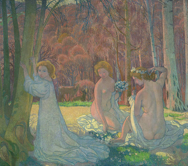 Wall Art - Painting - Figures In A Spring Landscape, 1897 by Maurice Denis