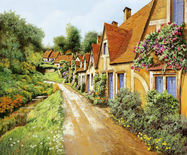 Wall Art - Painting - Fila Di Case Inglesi by Guido Borelli