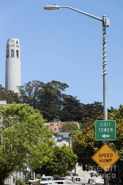 Wall Art - Photograph - Filbert Street View Of Coit Tower San Francisco California R660 by Wingsdomain Art and Photography