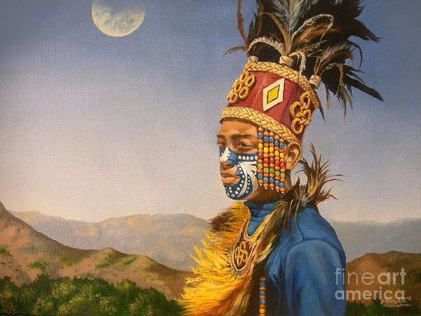 Painting - Filipino Dancer In Oil Painting by Christopher Shellhammer